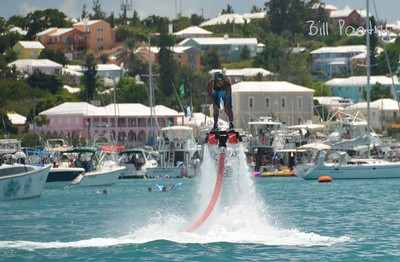 a Flyboard in Mangrove Bay, Sandys