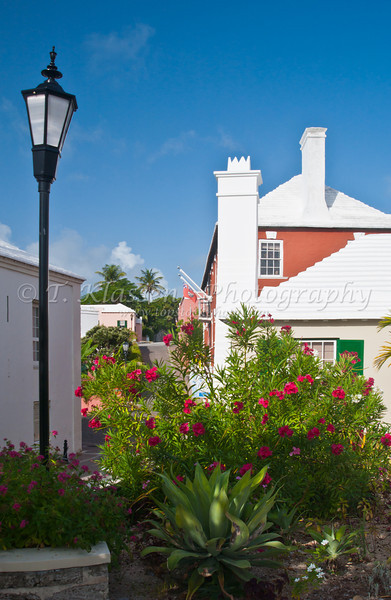 The town of St. George's Bermuda.