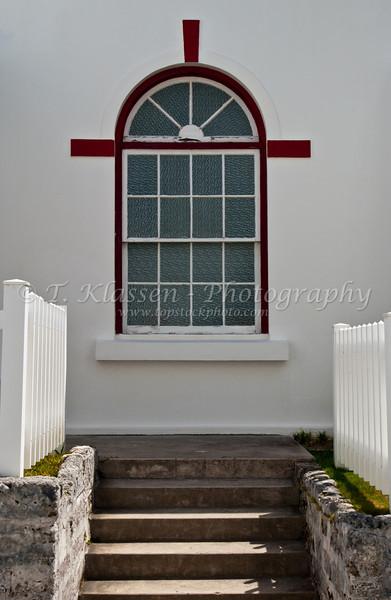 A church window in St. George's Bermuda.