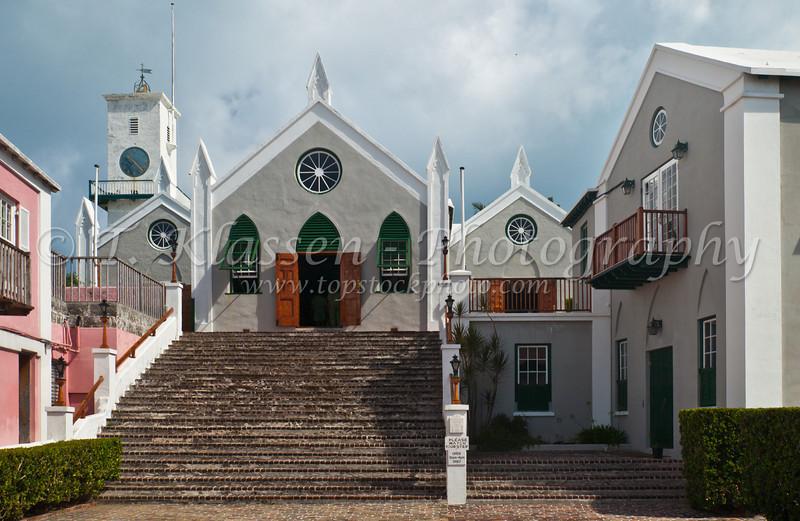 Saint Peters Church in St. George's Bermuda.