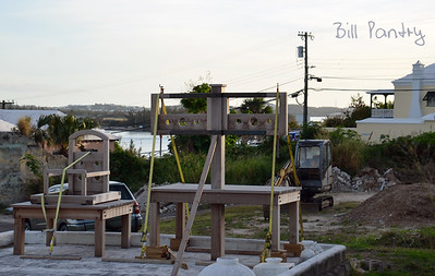 New stocks for the Town of St Georges, St Georges, Bermuda