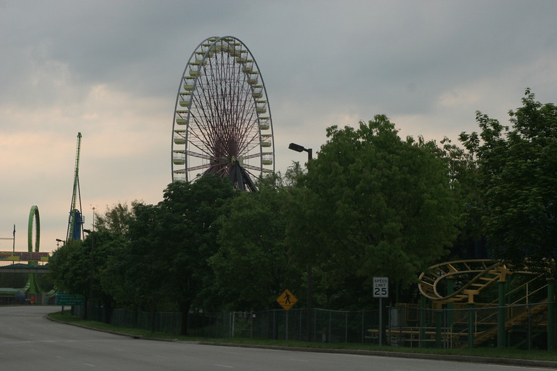 Ferris Wheel at 6 flags on route around expo grounds.