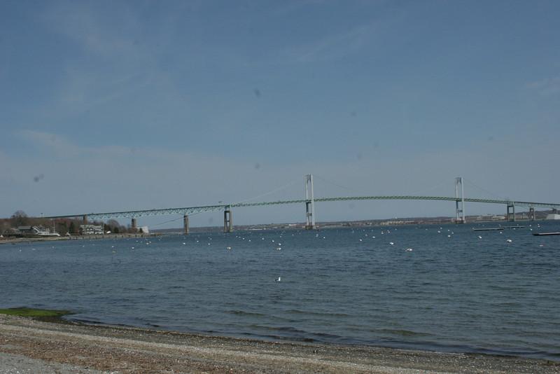 Newport bridge from Jamestown Marina.