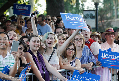 during the Chico Bernie Rally when Bernie Sanders visits Chico during his race to the white house in hopes of  winning California in the June 7th primary elections June 2, 2016 at Chico State in Chico, Calif. (Emily Bertolino -- Enterprise-Record)