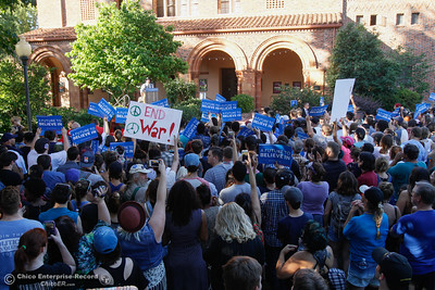 The crowd waits for Bernie Sanders during the Chico Bernie Rally June 2, 2016 at Chico State in Chico, Calif. (Emily Bertolino -- Enterprise-Record)