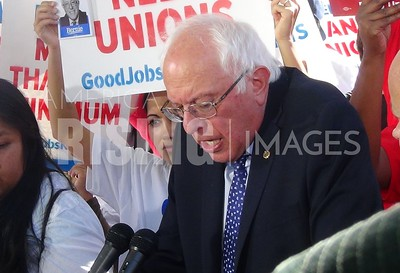 Bernie Sanders At New Workers' Rights Bill Rally In Washington, DC
