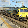 66596 passes through Bescot with 6M66 Immingham - Rugeley