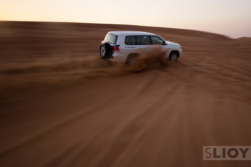 Desert Safari in the dunes of Dubai.