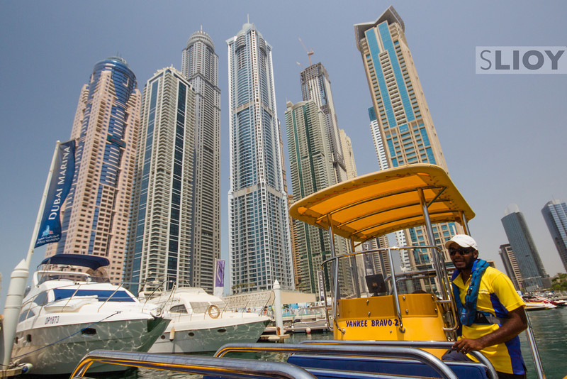 On A Boat In Dubai Marina.