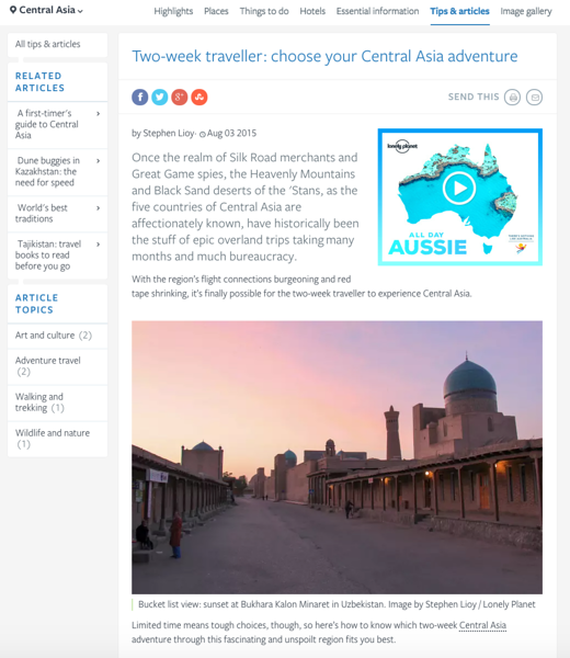 Lonely Planet - Two Week Traveler: Choose Your Central Asia Adventure