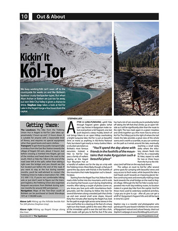 Kickin' It At Kol-Tor<br /> <br /> Spektator Magazine; Issue 23, December 2013