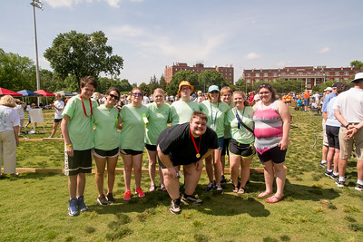 State Special Olympics Bocce Ball Awards Team & Aaron