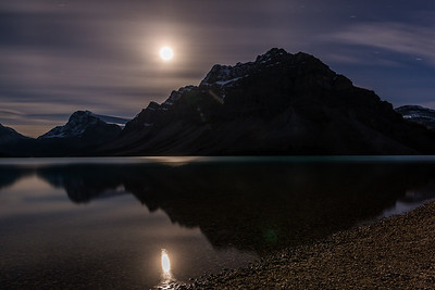 Moonlight Reflections in Banff National Park