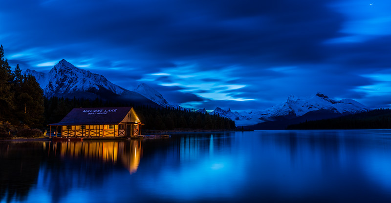 Blue Hour on Maligne Lake