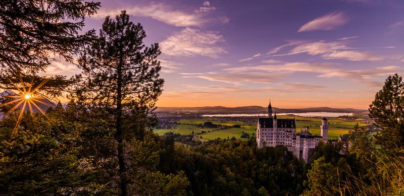 Sunset Over Schloss Neuschwanstein