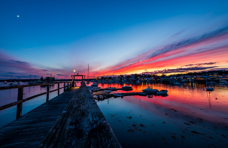 Summer Sunset in Boothbay Harbor, Maine