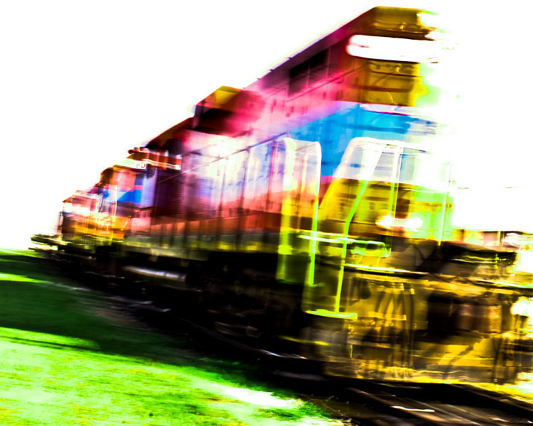Train Blazing Color_1  8x10