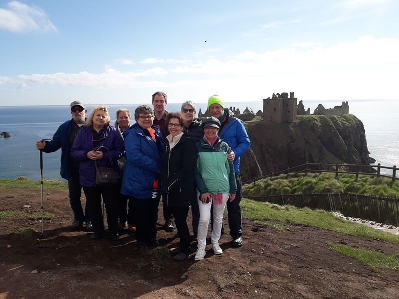 Ready to take on Dunnottar Castle!
