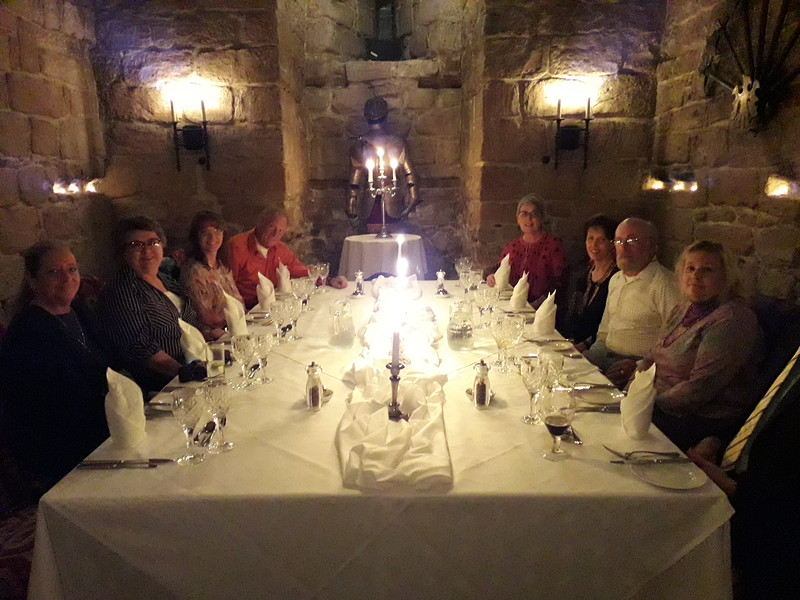 Mood lighting for dinner in a 13th-Century castle.