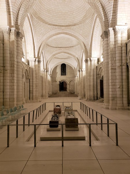 The austere solemnity of Fontevraud Abbey on a still midsummer night...