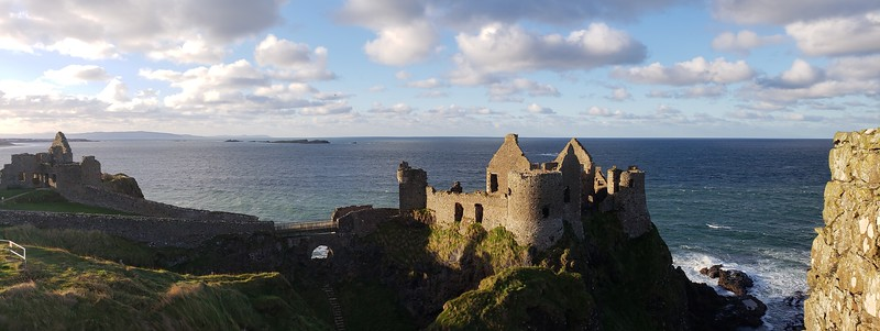 Dunluce Castle guards the coast of Northern Ireland on a gorgeous autumn afternoon