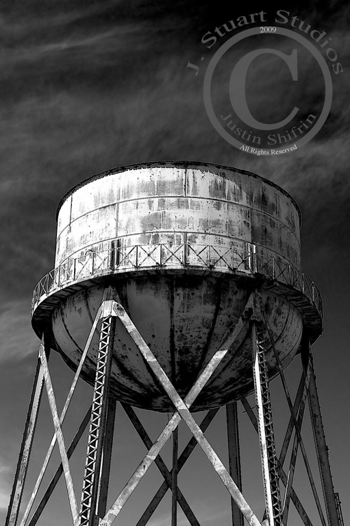 Rusty Water Tower<br /> <br /> The water tower is simply beautiful urban decay.