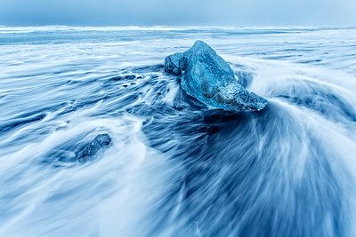 Wave Painting on Ice Beach