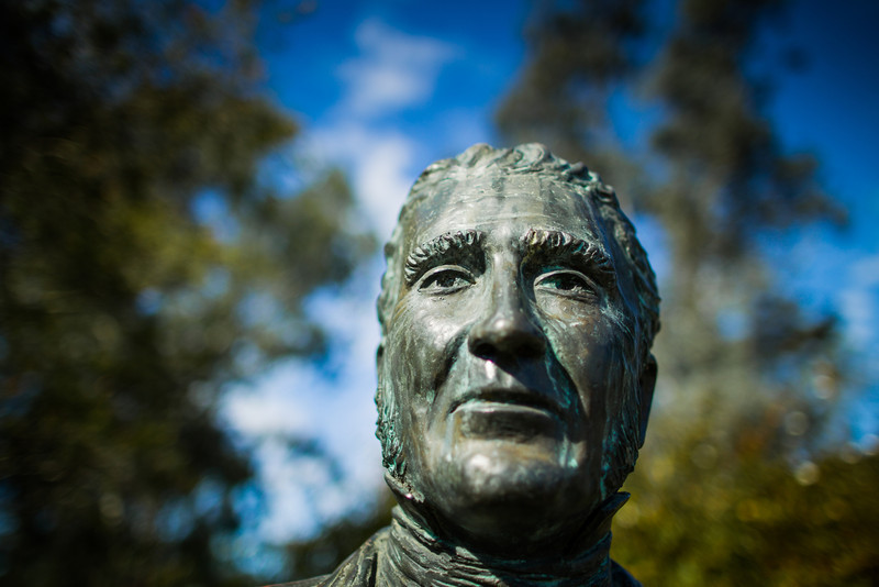 Wiseman's Ferry, Sydney, NSW, Australia<br /> Statue of Solomon Wiseman, who gave his name to the area. Near his family home, the former Cobham Hall (now the Wiseman's Ferry Inn).