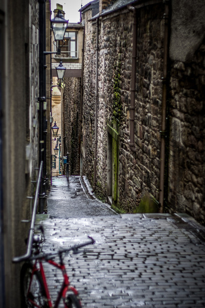 Edinburgh, Scotland<br /> Carrubber's Close (former home of William de Carriberis), leading to Jeffrey St.