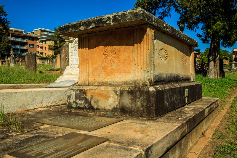 Parramatta, NSW, Australia<br /> Grave (in St John's Cemetery) of Australia's first Surveyor-General, Augustus Theodore Harman Alt (1731 – 9 January 1815.