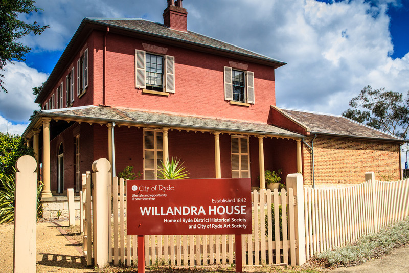 Ryde, Sydney, Australia<br /> Willandra (aka 'Ryde House'), built on John Small's grant by local magistrate James Devlin and his wife Susannah Hughes (John Small's granddaughter); 1842-1845. Restored in 1980.