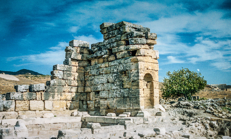 Near Pamukkale, Turkey<br /> The Nymphaeum, Hierapolis.
