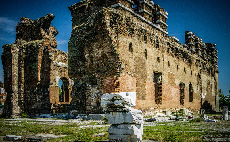"""Bergama, Turkey<br /> The """"Red Basilica"""" in the ancient city of Pergamon, now Bergama."""