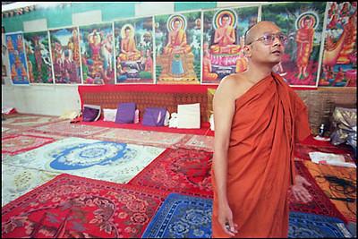 A Monk at Sandhikaram Wat Khmer (Lynn, MA)