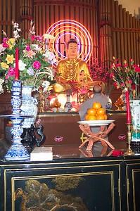Prayer Leader Before Buddha (Columbia, PA)