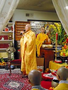 Monk Leads Buddhist Ceremony