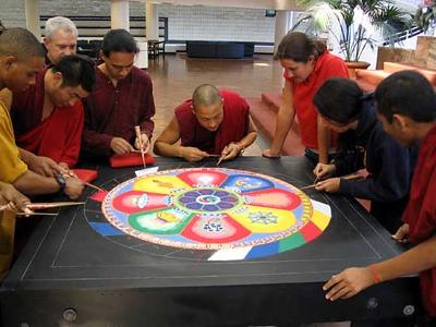 Monks Finishing a Mandala (Atlanta, GA)