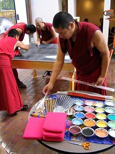 Monks Prepare a Sand Mandala (Atlanta, GA)