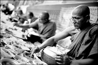 Monks at Sandhikaram Wat Khmer (Lynn, MA)