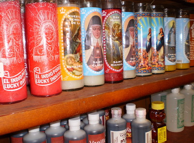 Candles for Sale in a Botanica (Cambridge, MA)