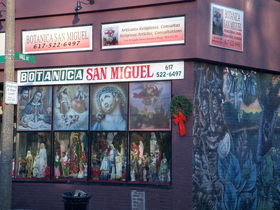 Exterior of Botanica San Miguel in the Jamaica Plain neighborhood of Boston (Boston, MA)