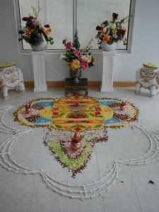 Mandala in a Temple Foyer