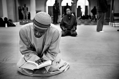Person Engaged in Devotional Reading of the Qur'an (Roxbury, MA)