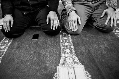 Men Praying at the Islamic Society of Boston Cultural Center (Roxbury, MA)