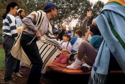 Members of the P'nai Or Jewish Renewal Community Create Community Through Play
