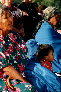 Three Generations Watch a Ceremony (White River, AZ)
