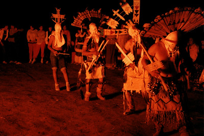 Ganns Performing a Dance after the Sunrise Dance Ceremony (White River, AZ)