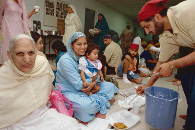 Langar Community Meal At Guru Nanak Sikh Gurdwara (Plymouth, MI)