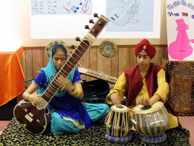 Sikh Musicians Playing the Sitar and Tabla (Atlanta, GA)