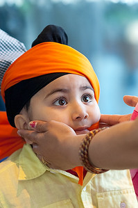 Turban Tying at Vaisakhi Festival (Kent, WA)